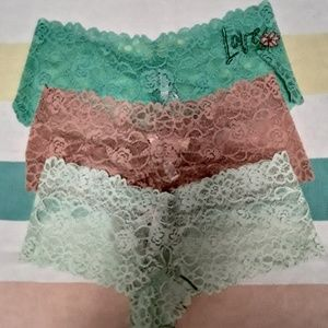 VS Lace Panties Bundle (L) NWT